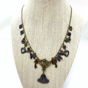 Enameled Boho Necklace Cosmic Charms Artist Made